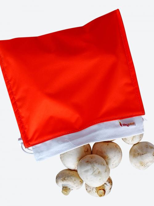 Orange Fresh Mushrom Bag