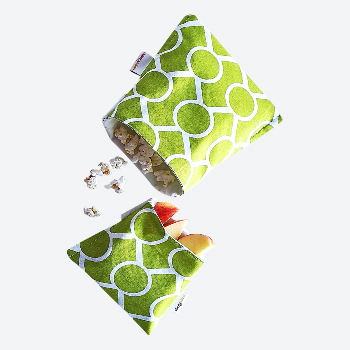 cotton reusable snack and sandwich bag