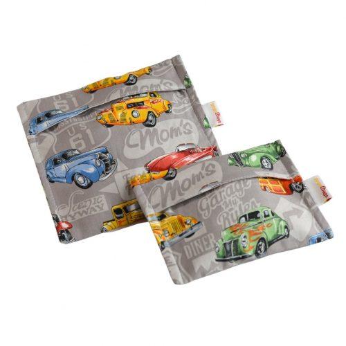 Vintage-Cars-set-bag-handmade-cotton-reusable-bag-gogobags-vancouver-canada