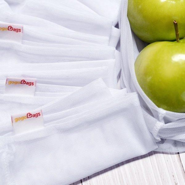Produce Set - 8 Mesh Bags close up