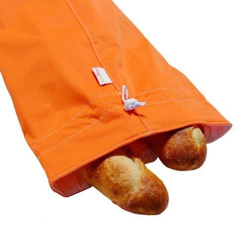 orange-fresh bread bag - gogobags-vancouver-handmade-reusable