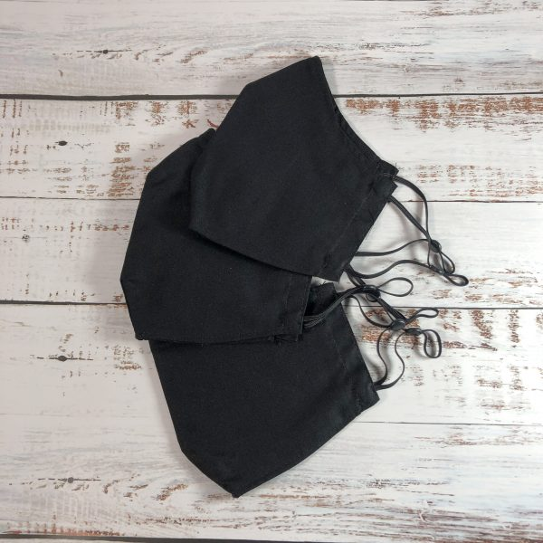 reusable fitted mask-black-3pack-gogoBags-vancouver