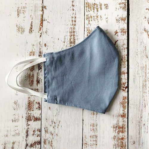 Fitted reusable face mask