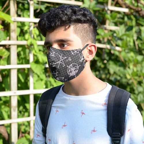 Reusable fitted mask-math-teen