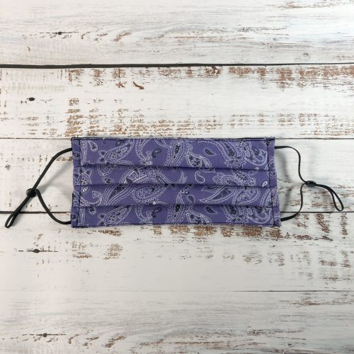 Purple Dream Bandana pleated reusable Face Mask - gogoBags - Vancouver - Canada