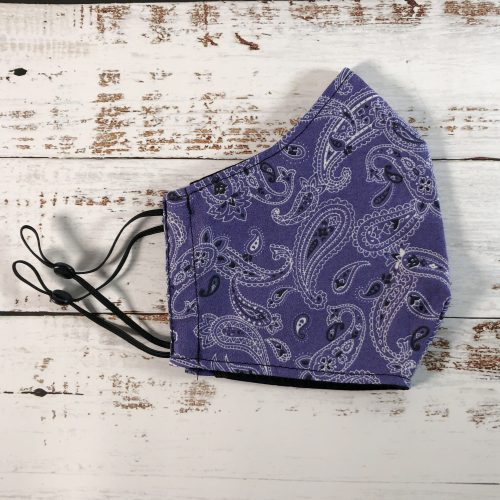 Purple Dream Bandana fitted reusable Face Mask - gogoBags - Vancouver - Canada