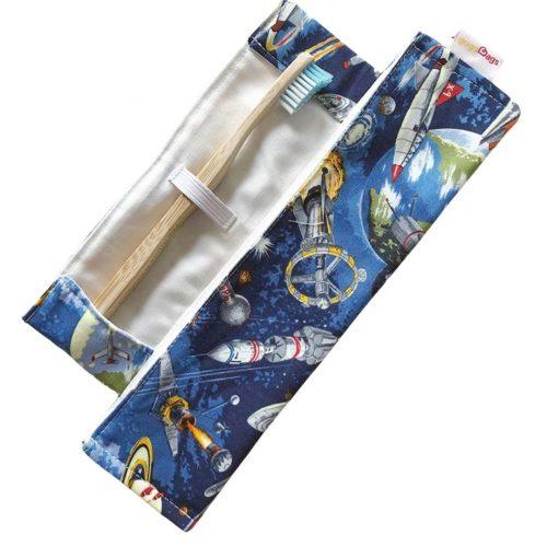 space toothbrush bag - handmade reusable-gogoBags vancouver