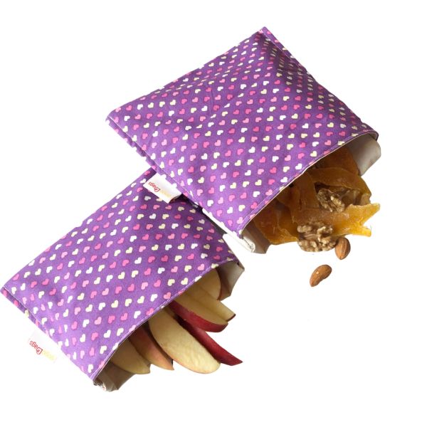 Heart-snack-sandwich-bag-set-gogobags-vancouver