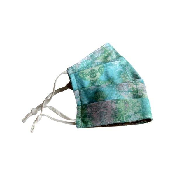 Watercolour-garden-Reusable-mask-pleated-gogobags-vancouver-canada